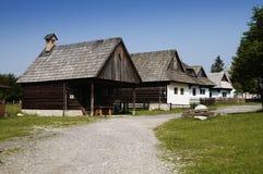 Hölzernes Dorf Stockfoto