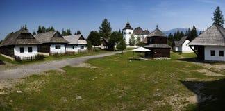 Hölzernes Dorf Lizenzfreies Stockbild