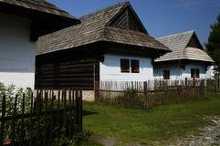Hölzernes Dorf Stockbilder