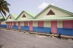 Hölzernes farbiges Haus Lizenzfreies Stockfoto