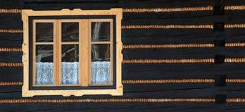 Hölzernes Fenster #01 Lizenzfreies Stockbild