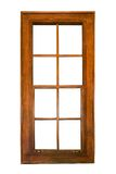 Hölzernes Fenster der Schärpe lokalisiert Lizenzfreie Stockfotos