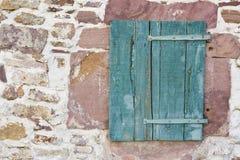 Hölzernes Fensterladenfenster Stockbilder