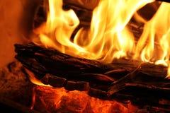 Hölzernes Feuer Stockbilder