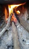 Hölzernes Feuer Stockbild