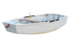 Hölzernes Fischerboot lokalisiert auf weißem Hintergrund lizenzfreie stockbilder