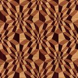 Hölzernes geometrisches Muster Stockbilder