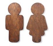 Hölzernes Geschlechts-Symbol Stockbild
