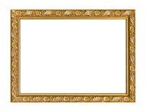 Hölzernes geschnitztes Rahmenmuster des Bilderrahmens lokalisiert auf Weißrückseite Stockfoto