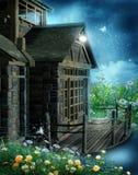 Hölzernes Häuschen der Fantasie stock abbildung