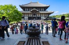 Hölzernes Hauptgebäude von Todaiji-Tempel in Nara Lizenzfreies Stockfoto