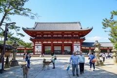 Hölzernes Hauptgebäude von Todaiji-Tempel in Nara Lizenzfreie Stockbilder