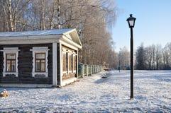 Hölzernes Haus im Zustand Nekrasova. Stockfotos