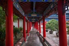 Hölzernes Haus Lijiang, Yunnan-Galerie Lizenzfreies Stockfoto