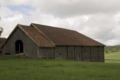 Hölzernes Hausmuseum Gamle Hvam des alten Landwirts Lizenzfreies Stockfoto