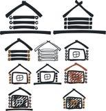 Hölzernes Haussymbol Stockfotos