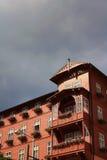 Hölzernes Hotelgebäude Stockfotografie