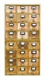 Hölzernes Kabinett der Weinlese mit Fächern Stockbilder