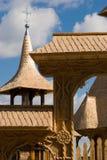 Hölzernes Kirche Dach und Steeple Stockbild