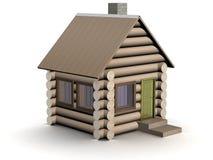 Hölzernes kleines Haus. Die getrennte Abbildung. Stockfotografie