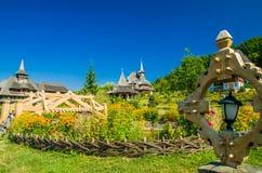 Hölzernes Kloster Barsana, Maramures, Rumänien Lizenzfreies Stockbild