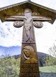 Hölzernes Kreuz lizenzfreies stockbild