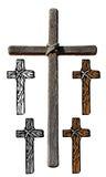 Hölzernes Kreuz Stockbild