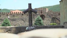 Hölzernes Kreuz in Georgia stock footage