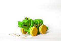 Hölzernes Krokodil-Spielzeug Lizenzfreies Stockbild