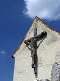 Hölzernes Kruzifix Lizenzfreies Stockbild