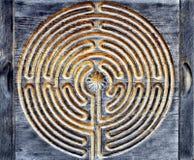 Hölzernes Labyrinth Stockbilder