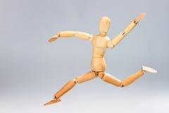 Hölzernes Mannequinspringen Stockfoto