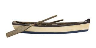 Hölzernes Paddel-Boot Stockbilder