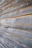 Hölzernes Plankeschossabstellgleis Stockbilder