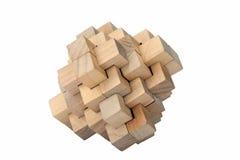 Hölzernes Puzzlespiel - getrennt Stockbild