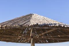 Hölzernes Regenschirm-Detail Stockfoto