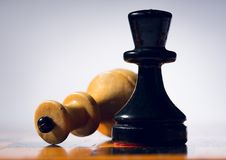 Hölzernes Schachbrett Stockbild