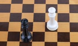Hölzernes Schachbrett mit Zahlen Lizenzfreie Stockfotografie