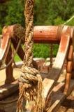 Hölzernes Schiff der Piraterie stockfoto
