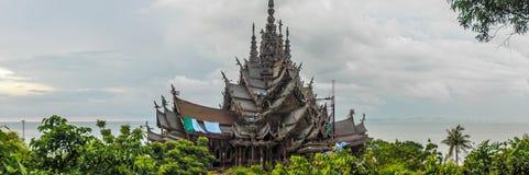 Hölzernes Schloss in Pattaya Lizenzfreies Stockbild