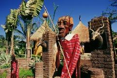 Hölzernes Schnitzen des Kenia-Masais lizenzfreies stockbild