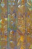 Hölzernes schnitzendes Design Stockbild