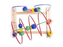 Hölzernes Spielzeug der Draufsicht Lizenzfreie Stockbilder