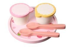 Hölzernes Spielzeug-Frühstück-Set Lizenzfreies Stockfoto