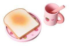 Hölzernes Spielzeug-Frühstück-Set Stockfoto