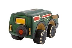 Hölzernes Spielzeug SUV Stockfotos