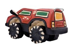 Hölzernes Spielzeug SUV Stockbild