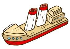 Hölzernes Spielzeugschiff Lizenzfreies Stockbild
