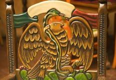 Hölzernes Stuhl-Symbol von Mexiko Lizenzfreies Stockbild