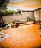 Hölzernes terrasse stockfoto